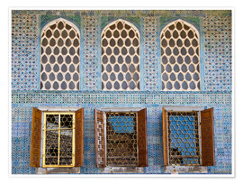 Poster Islamic windows of the Topkapi palace