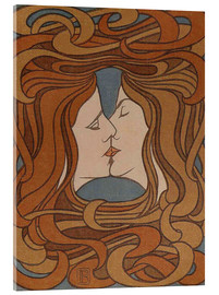 Acrylic glass  The Kiss - Peter Behrens