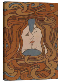 Canvas print  The Kiss - Peter Behrens