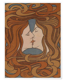 Premium poster  The Kiss - Peter Behrens