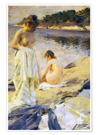 Premium poster  The bath - Anders Leonard Zorn