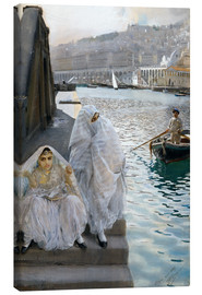 Canvas  From Algiers Harbor - Anders Leonard Zorn