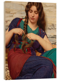 Wood print  A congenial task, detail - John William Godward