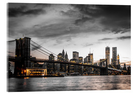 Acrylic print  Brooklyn Bridge - Hannes Cmarits