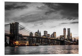 Foam board print  Brooklyn Bridge - Hannes Cmarits