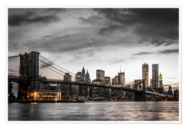 Premium poster  Brooklyn Bridge - Hannes Cmarits