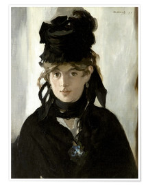 Premium poster Berthe Morisot with a Bouquet of Violets
