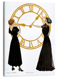 Canvas print  Forward and back - Clarence Coles Phillips