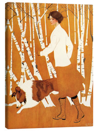 Canvas  Birches - Clarence Coles Phillips