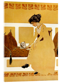 Acrylic print  Discarding from strength - Clarence Coles Phillips