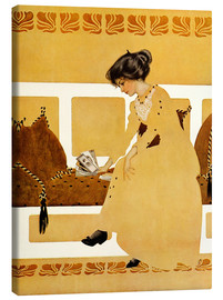 Canvas print  Discarding from strength - Clarence Coles Phillips