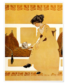 Premium poster  Discarding from strength - Clarence Coles Phillips