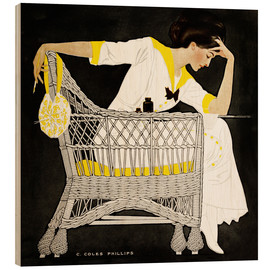 Wood print  Summer fiction - Clarence Coles Phillips