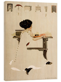 Wood print  Know all men by these presents - Clarence Coles Phillips