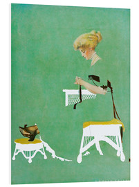 Foam board print  Home ties - Clarence Coles Phillips