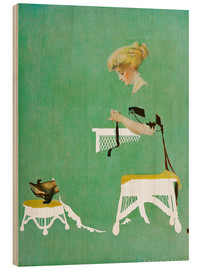 Wood print  Home ties - Clarence Coles Phillips