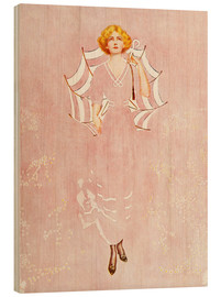 Wood print  Even the daisies of the field - Clarence Coles Phillips