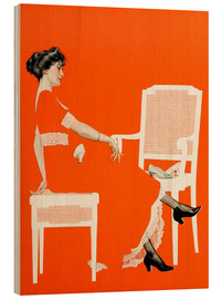 Wood print  The survival of the fittest - Clarence Coles Phillips