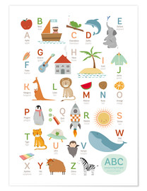 Premium poster ABC German - English
