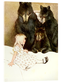 Acrylic print  Goldilocks and the Three Bears - Katharine Pyle