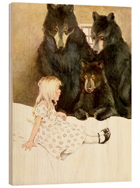 Wood print  Goldilocks and the Three Bears - Katharine Pyle