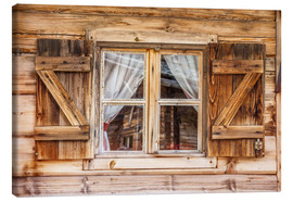 Canvas  Window of alps cabin in South Tyrol (Italy) - Christian Müringer