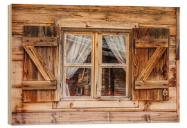 Wood print  Window of alps cabin, South Tyrol (Italy) - Christian Müringer