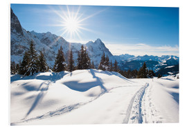 Foam board print  Winter scenery at Grindelwald - Peter Wey