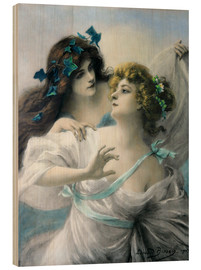 Wood print  Two Maidens - Edouard Bisson