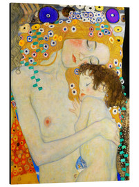 Alu-Dibond  Mother and Child (detail) - Gustav Klimt