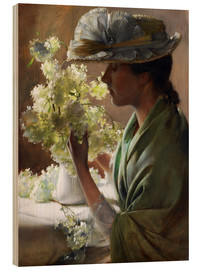 Charles Courtney Curran - Lady with a bouquet (Snowballs)