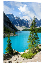Acrylic print  Moraine Lake in the valley of ten peaks, Banff National Park, Alberta, Canada - Peter Wey