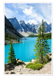 Premium poster  Moraine Lake in the valley of ten peaks, Banff National Park, Alberta, Canada - Peter Wey