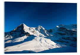 Acrylic print  Panoramic view from Lauberhorn with Eiger Mönch and Jungfrau mountain peak - Peter Wey