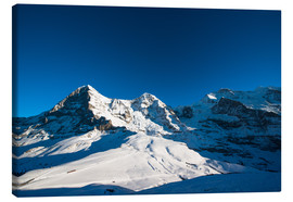 Canvas print  Panoramic view from Lauberhorn with Eiger Mönch and Jungfrau mountain peak - Peter Wey
