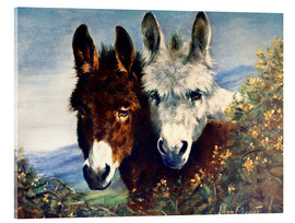 Acrylic glass  The Wise Ones (Donkeys) - Lilian Cheviot