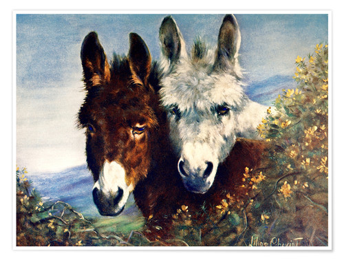 Premium poster The Wise Ones (Donkeys)