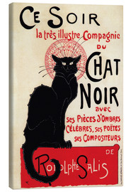 Canvas print  Chat Noir (Black Cat - French) - Théophile-Alexandre Steinlen