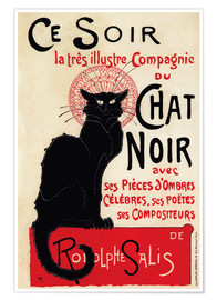 Poster  Chat Noir (Black Cat - French) - Théophile-Alexandre Steinlen