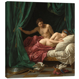 Canvas print  Mars and Venus an allegory of Peace - Louis Jean Francois Lagrenee