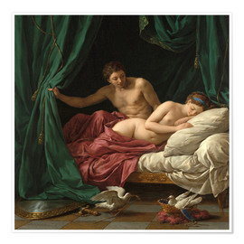 Premium poster  Mars and Venus an allegory of Peace - Louis Jean Francois Lagrenee