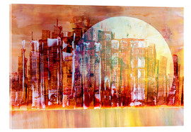 Acrylic glass  Space City III - Gerhard Kraus