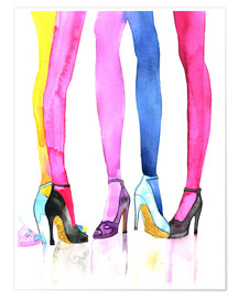 Poster  Legs and heels - Rongrong DeVoe
