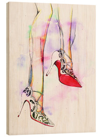 Wood print  Hot high heels - Rongrong DeVoe