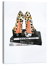 Canvas print  Pumps and fashion reading - Rongrong DeVoe