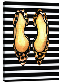 Canvas print  Dots on stripes - Rongrong DeVoe