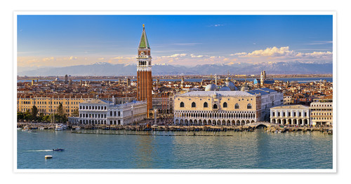 Premium poster Venice view to the Alps