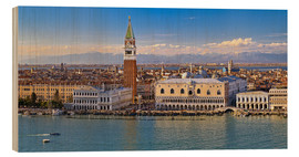 Wood print  Venice view to the Alps - FineArt Panorama