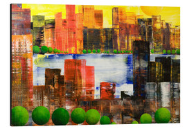 Alu-Dibond  Skyline City, abstract - Gerhard Kraus