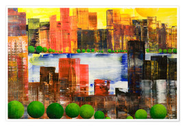 Premium poster Skyline City, abstract